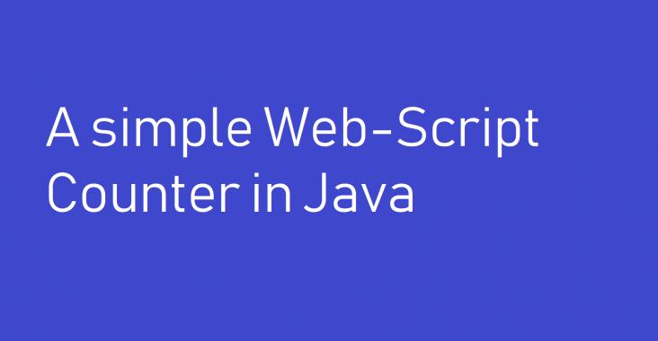 web script counter